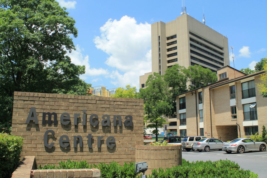 Welcome to Americana Centre in Rockville, Maryland
