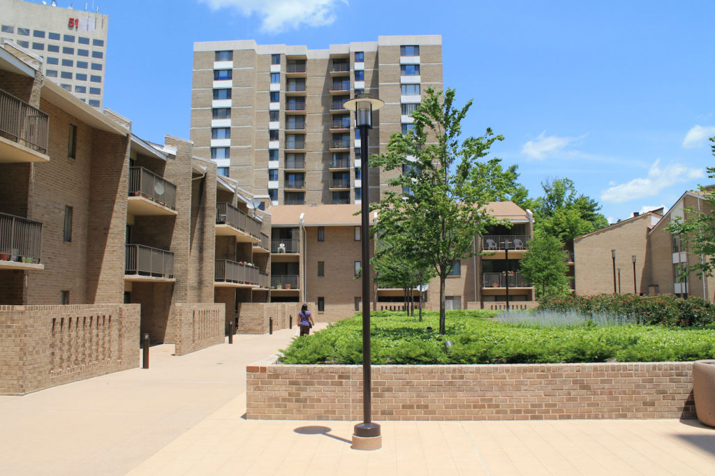 Americana Centre condos and townhomes in downtown Rockville