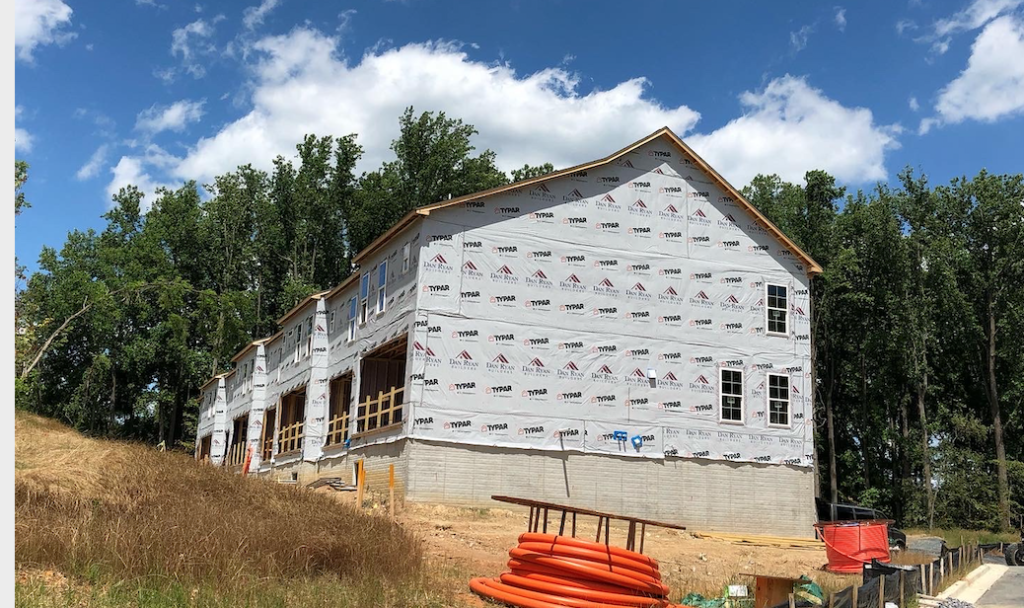 The Townes at Brookeville under construction