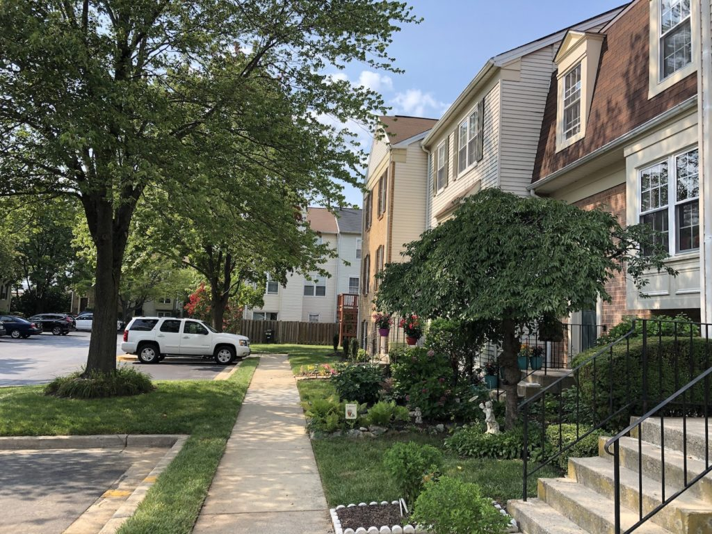 College Square townhomes in Rockville, Maryland