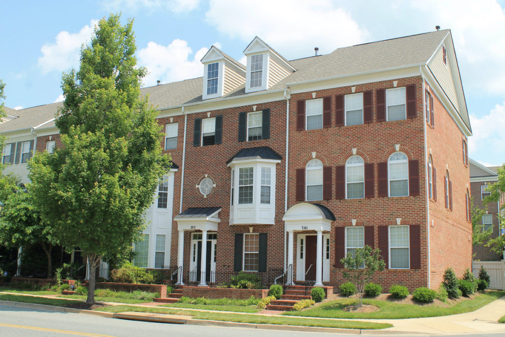 King Farm townhomes in Rockville, Maryland