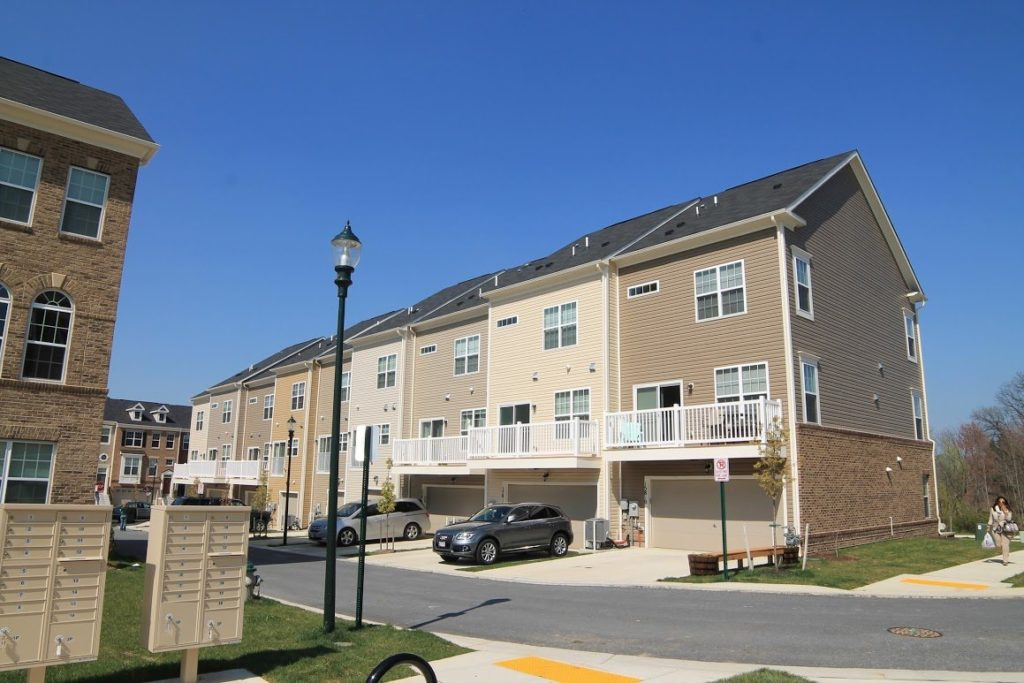 Norbeck Crossing garage townhomes Silver Spring