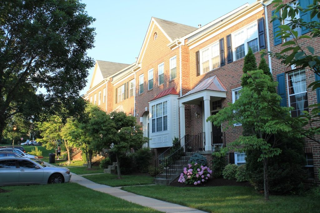 Parker Farm townhome neighborhood in Silver Spring