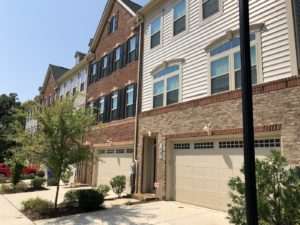 Thomas Village townhomes in Sandy Spring, Maryland