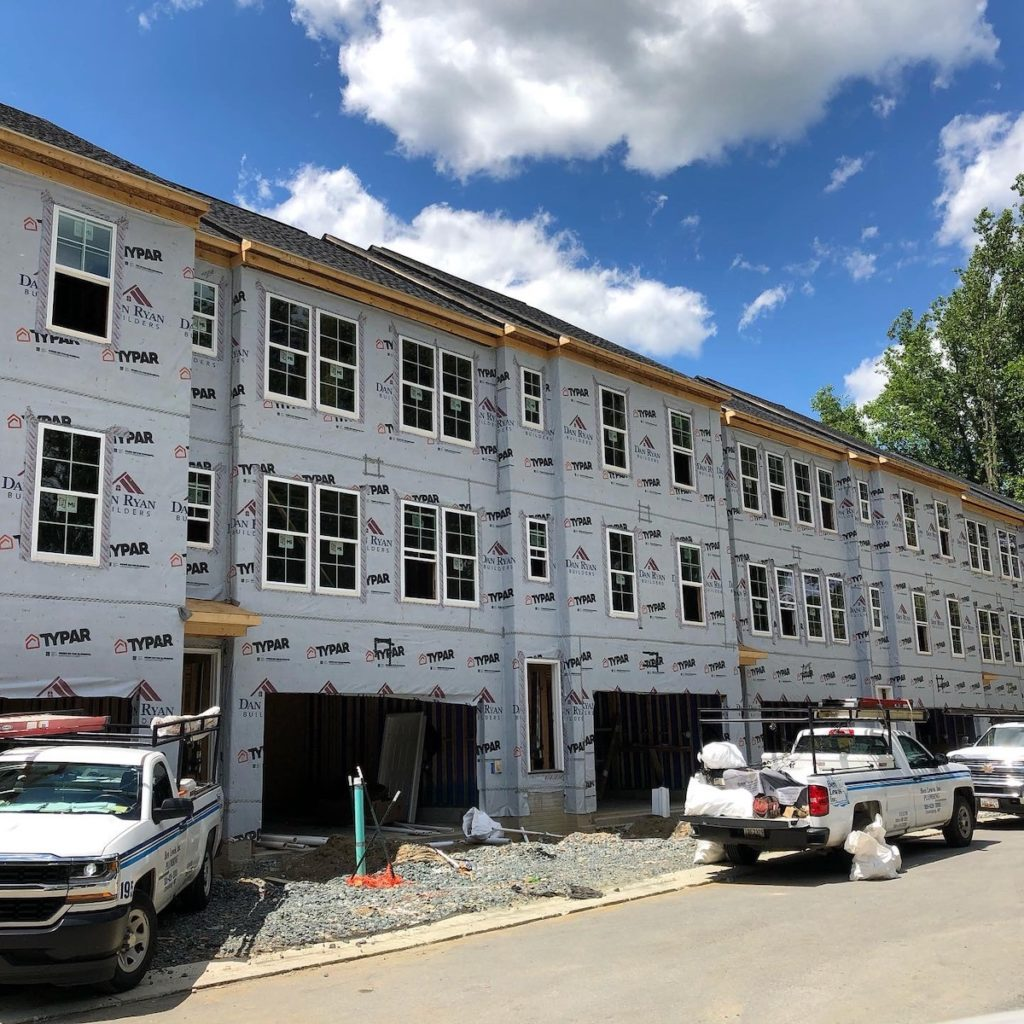 Brand new townhomes in Brookeville, Maryland
